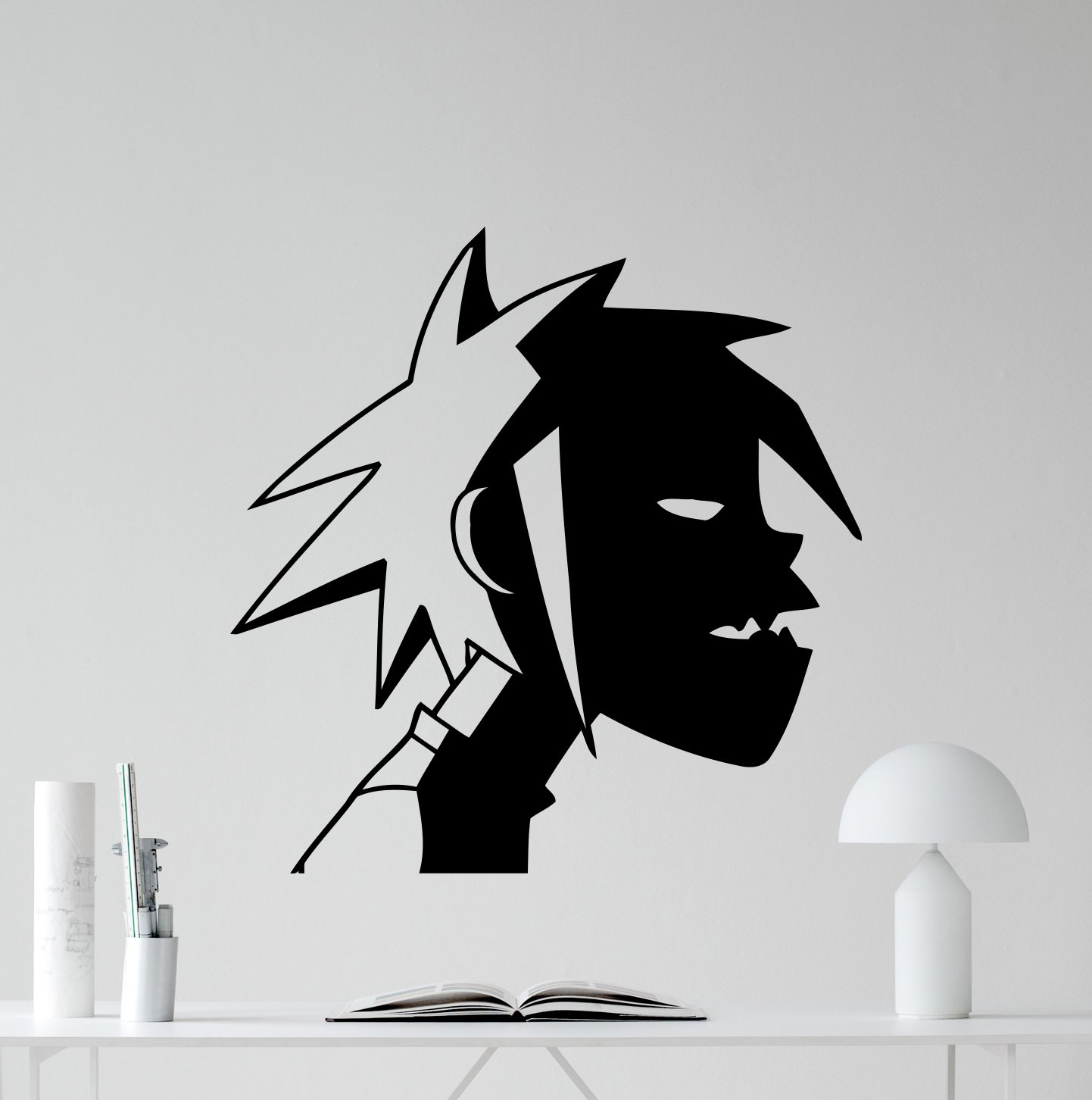 amazon com 2d gorillaz wall decal alternative music band vinyl amazon com 2d gorillaz wall decal alternative music band vinyl sticker music studio decal rock wall art design housewares teens room nursery bedroom decor
