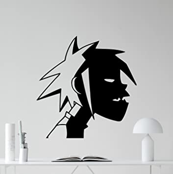 2D Gorillaz Wall Decal Alternative Music Band Vinyl Sticker Music Studio  Decal Rock Wall Art Design
