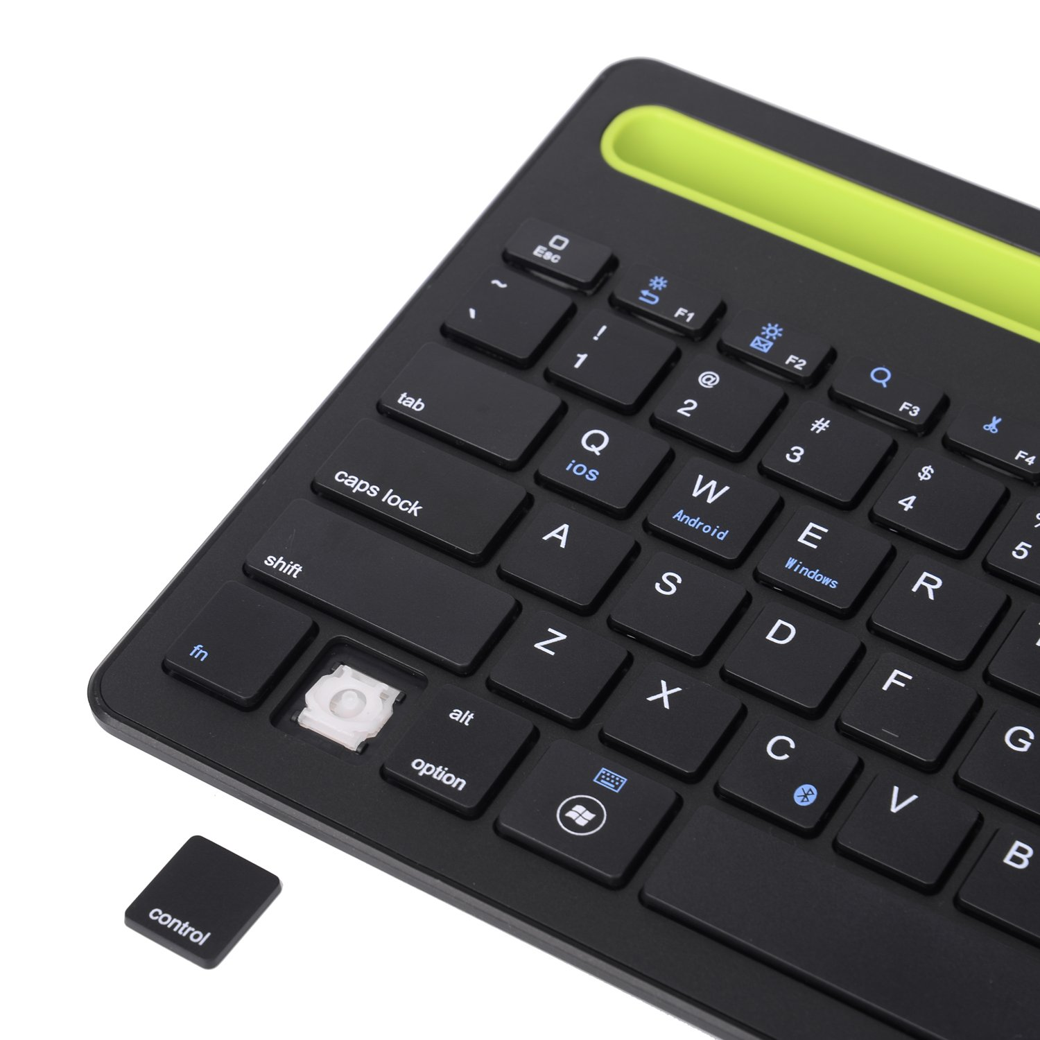 Sky Hiker Bluetooth keyboard, Dual Channel Multi-device Universal Bluetooth Rechargeable Keyboard with Integrated Stand for for Windows Android iOS PC Tablet Smartphone Macbook by Sky Hiker (Image #7)