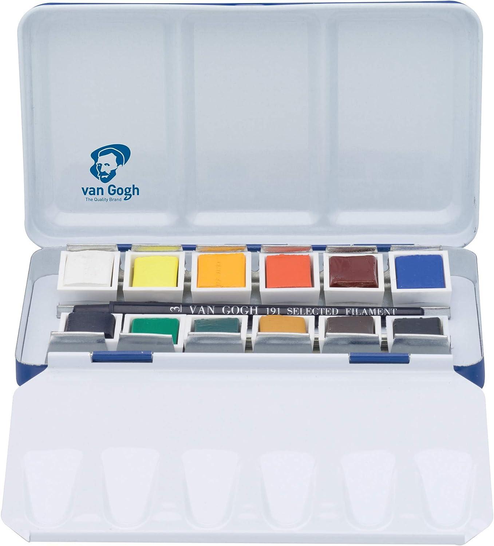 Van Gogh National Gallery - Caja de Acuarelas (Metal, 12 Botes, con Pincel): Amazon.es: Juguetes y juegos