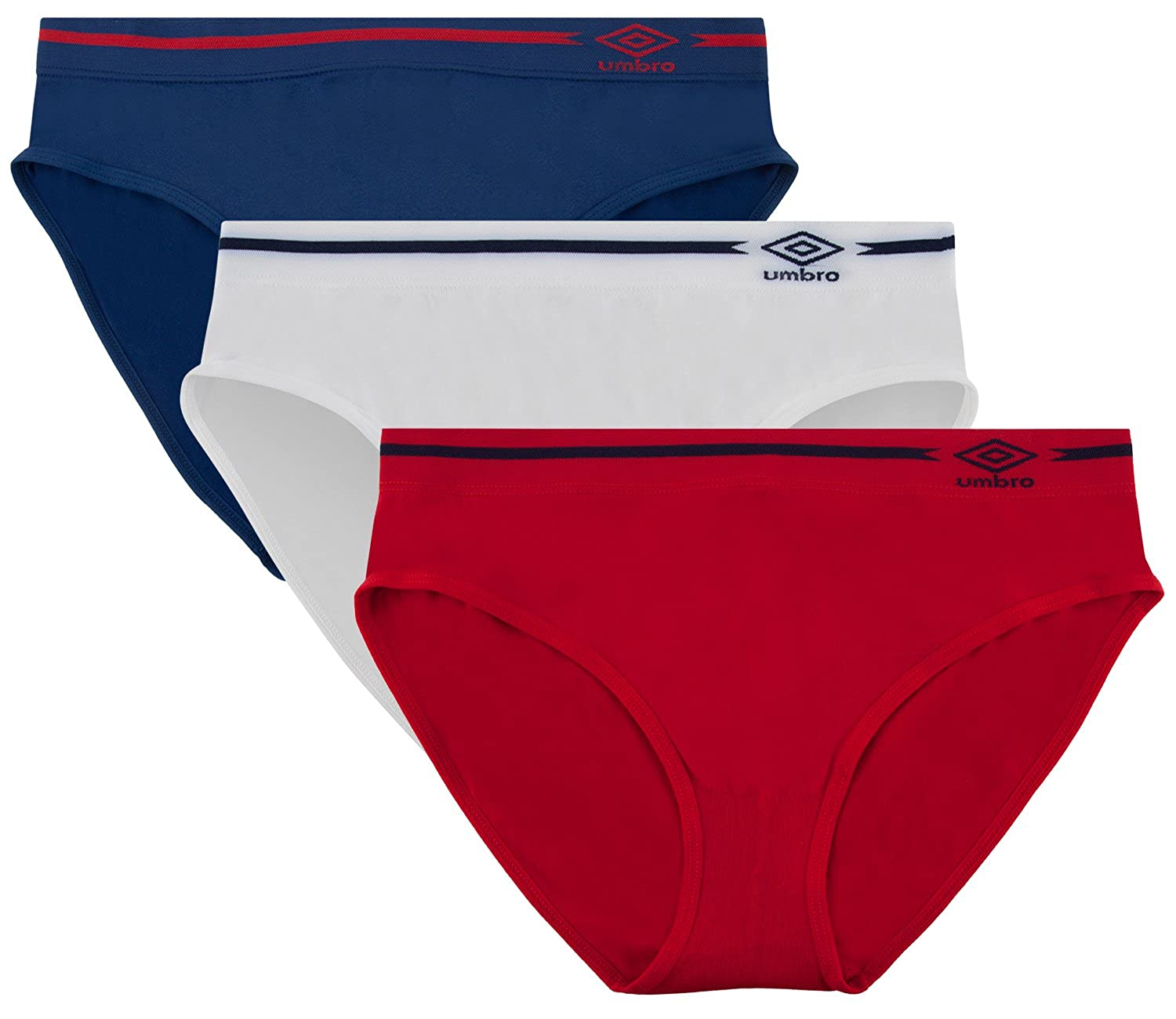 Umbro Women's Seamless Bikini Panties 3 Pack - Assorted Colors