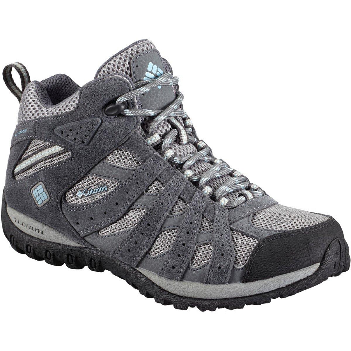(コロンビア) Columbia Redmond Mid Waterproof Hiking Boot - Women'sレディース バックパック リュック Light Grey/Sky Blue [並行輸入品] 10  B077NGXSK6