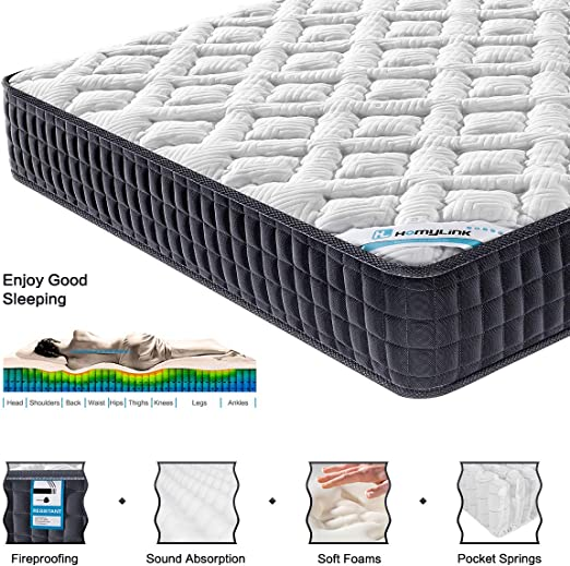 HomyLink 4FT6 Double Mattress Pocket Sprung Memory - Best Edge Support