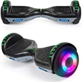 """SISIGAD Hoverboard with Bluetooth Speaker and Led Lights, Smart 6.5"""" Self-Balancing Electric Scooter for Kids and…"""