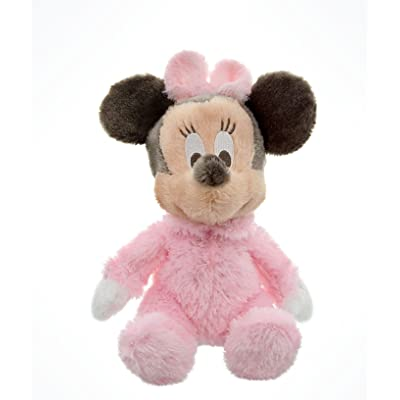 "Disney Parks Exclusive Baby Minnie Mouse 9"" Inch Long Pile Plush Rattle Doll: Toys & Games"