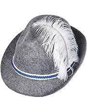 S/O Chapeau bavarois bleu/blanc en feutre Chapeau tirolien