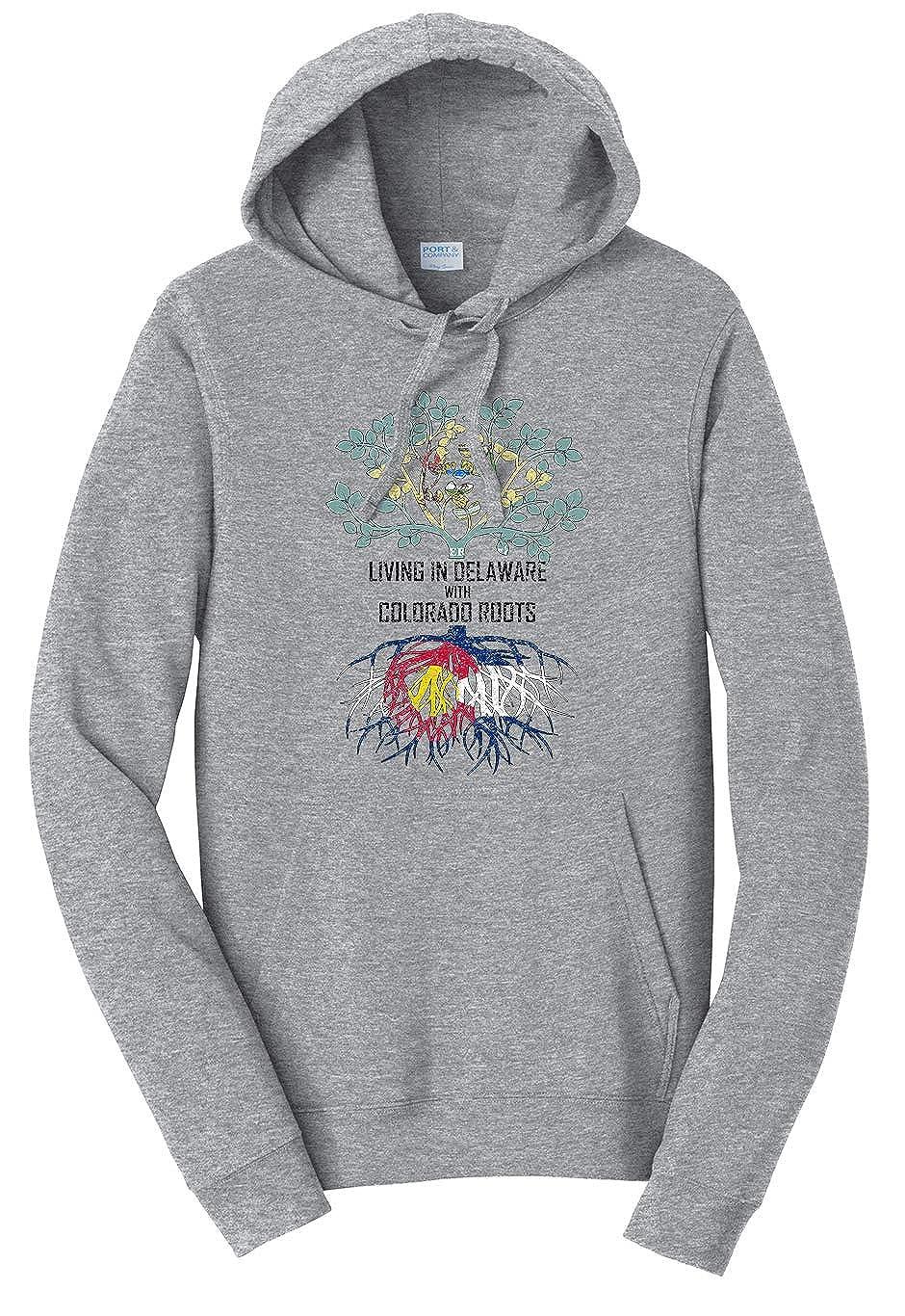 Tenacitee Girls Living in Delaware with Virginia Roots Hooded Sweatshirt