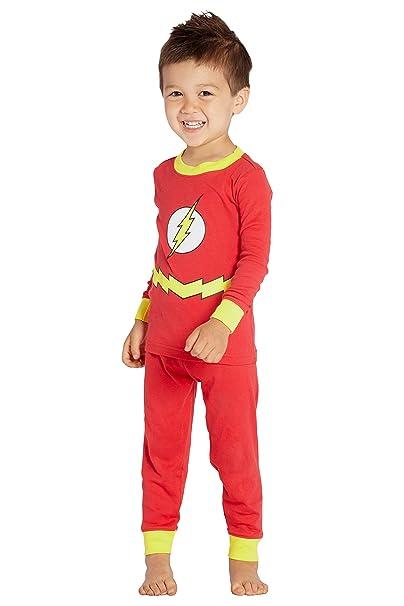 33556188bbf8 Amazon.com  DC Comics Baby Boys  Flash 2 Piece Sleep Set  Clothing