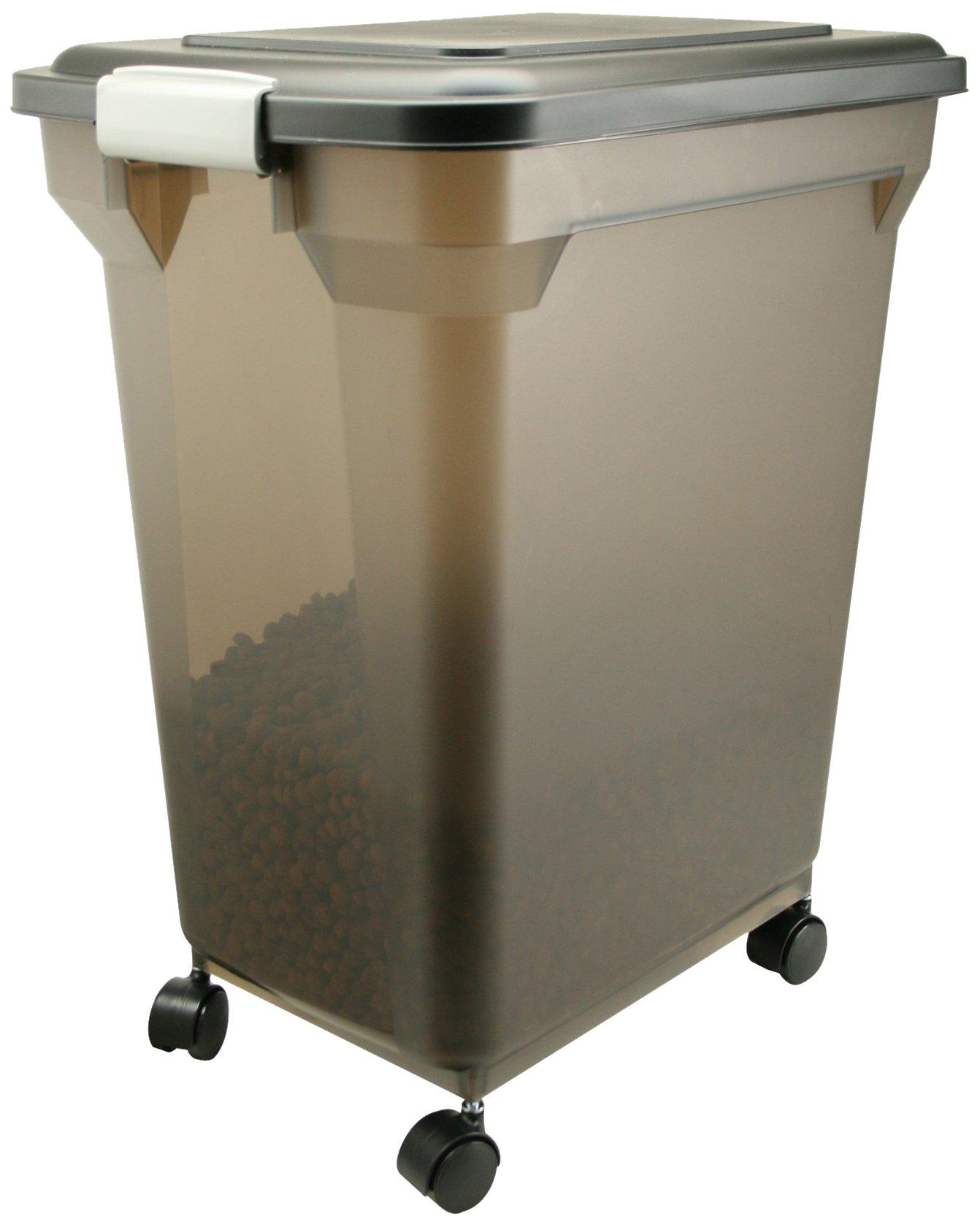 IRIS Premium Airtight Pet Food Storage Container, 42-Pounds,  Smoke