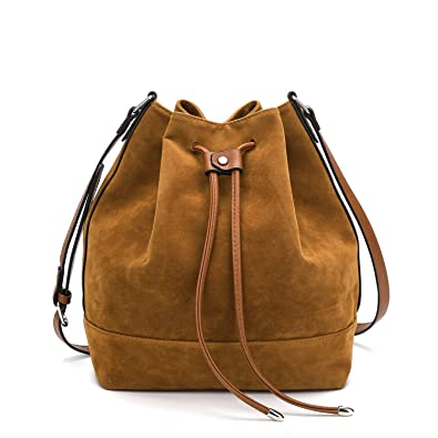 Amazon.com  Drawstring Bucket Bag for Women Large Crossbody Purse Handbag  Shoulder Bag  Shoes e9943fa1c5bc1