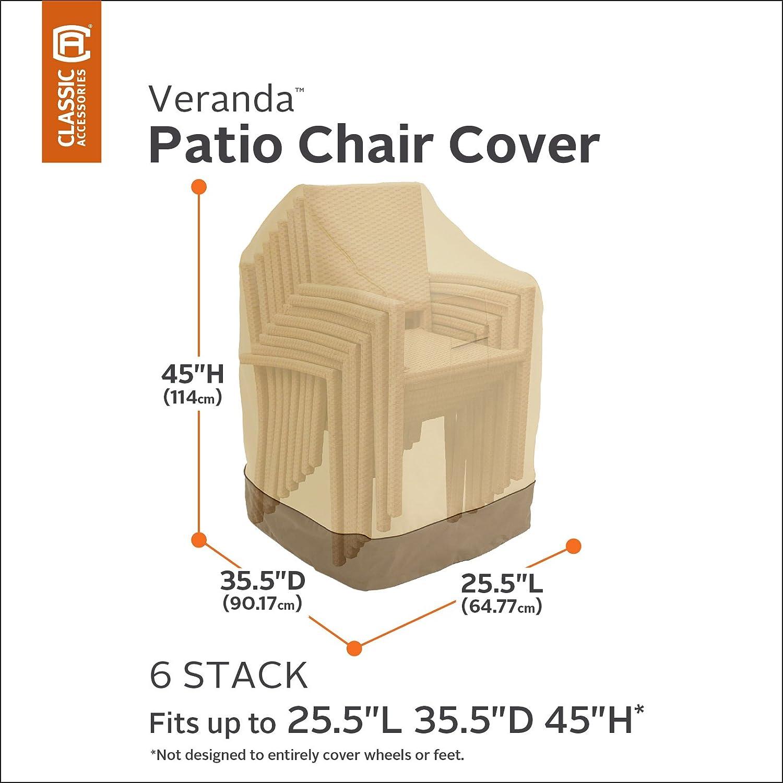 Amazon Classic Accessories Veranda Stackable Chairs Cover