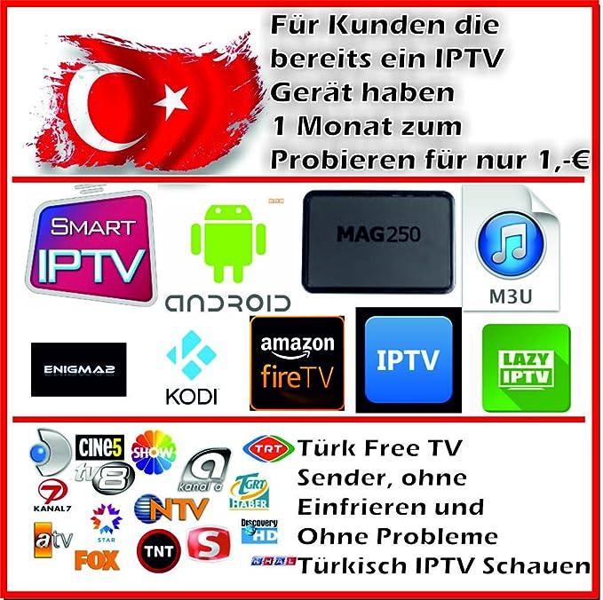 Samsung Smart IPTV Turkish IPTV Android Kodi 1 Month: Amazon co uk