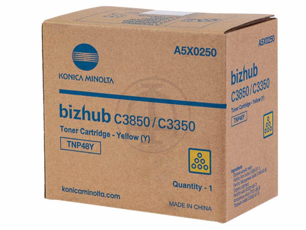 Konica Minolta Original – Konica Minolta Bizhub C 3800 Series – (TNP de 48 y/A5 X 0250) – Series Toner Amarillo – 10.000 páginas 958d2e