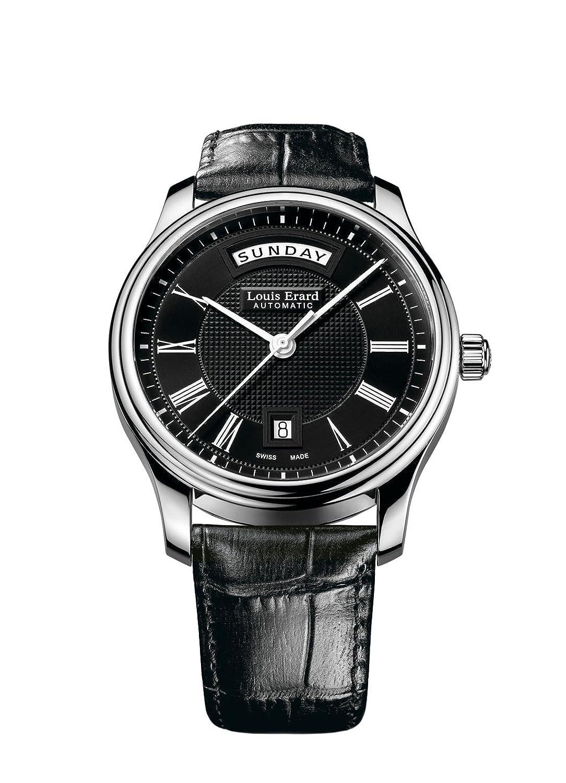 Louis Erard Heritageコレクションスイス自動ブラックダイヤルメンズ腕時計67258 aa22。bdc02 B00M7GCXE6
