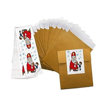 10 De Kleine Oro farbene bolsas de papel weihnac htstüten bolsas de regalo (9,