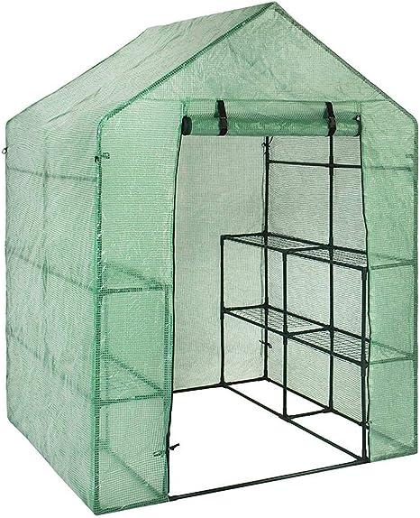 PROKTH Mini Serre Housse de Remplacement de 4 étages, PE Tier Home Plante  Serre Tente d\'extérieur en Plastique