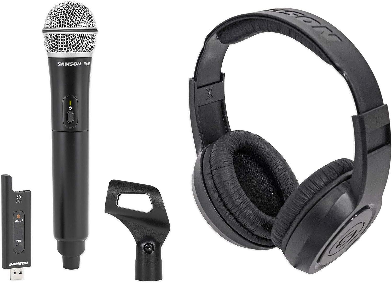 Samson Stage XPD2 USB Digital Wireless Podcast Broadcast Microphone+Headphones