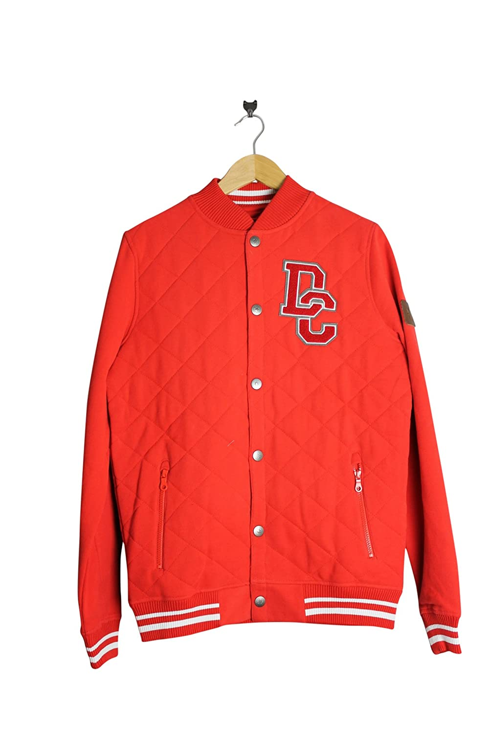 DC Shoes Clothing DPMSW032 Mens Red 100% Cotton Button Down Base Ball Jacket