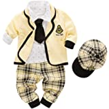 Nyan Cat May's Kids Boys' Blazer Long Sleeves T-Shirt Tie Pants Gentleman Suit 5 Pieces Sets