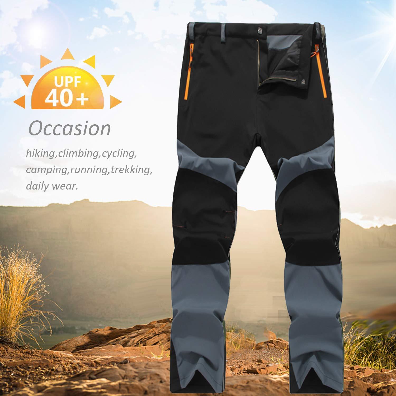 Ynport Crefreak Mens Outdoor Hiking Trousers Quick Dry Lightweight Climbing Trousers Plus Size Sportwear Trekking Pants