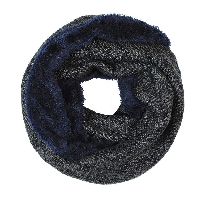 Glamexx24 Bufanda de invierno bufanda de punto con punto fino y forro de  vellón suave  Amazon.es  Ropa y accesorios 880206919eb