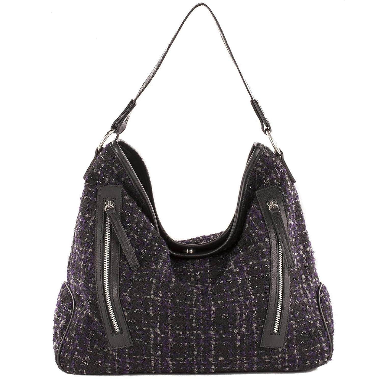 Anna Cecere Shoulder Bag, Valeria, in fabric, in cm: 43 lx 34 hx 16 w