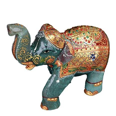 Amazon.com: Gemhub - Figura decorativa de elefante con ...