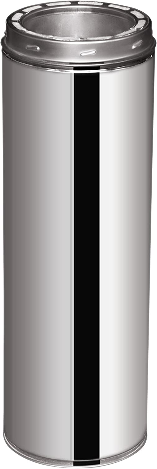 EcoVent USA Double Wall Stainless Steel Chimney Pipe 6-Inch X 48-Inch