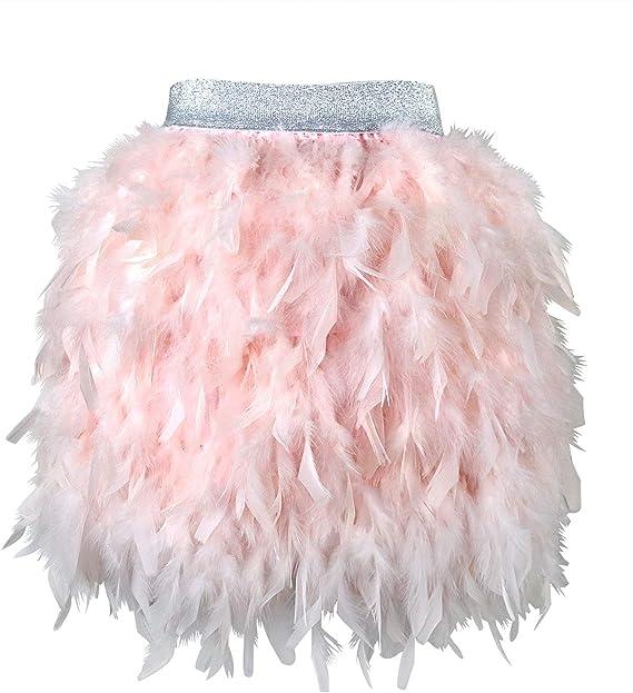 LVOW - Falda de Plumas góticas para Mujer, Minifalda de Cintura ...
