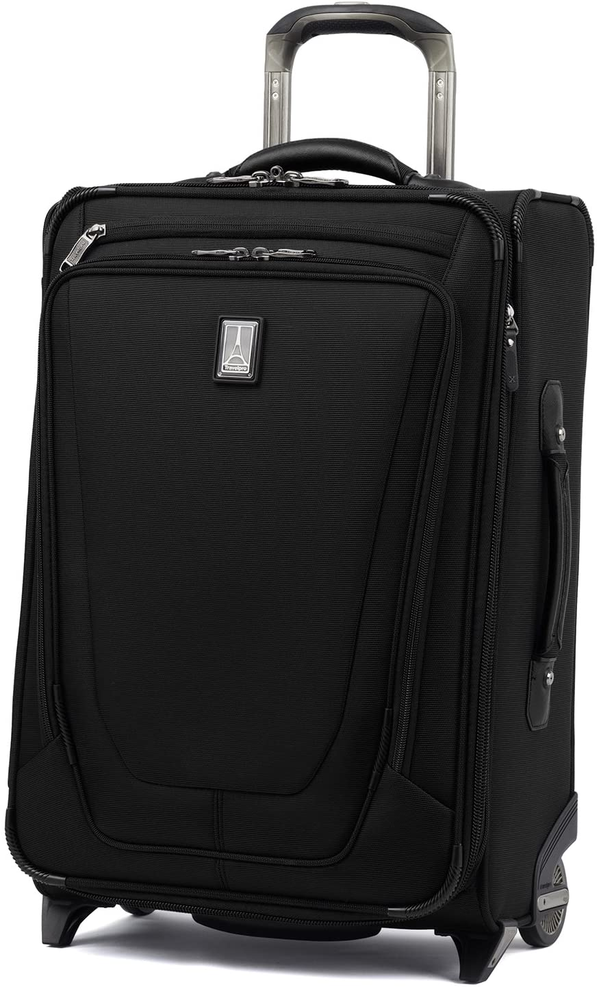 Travelpro Luggage Crew 11 22 Carry-on Expandable Rollaboard w Suiter and USB Port, Black