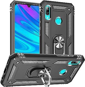 Funda Huawei P Smart 2019,Caja El Soporte Incorporado A Prueba de Golpes Anti-Arañazos Armadura Proteccion Cover Case para Huawei P Smart 2019/Honor 10 Lite (Negro Negro): Amazon.es: Electrónica