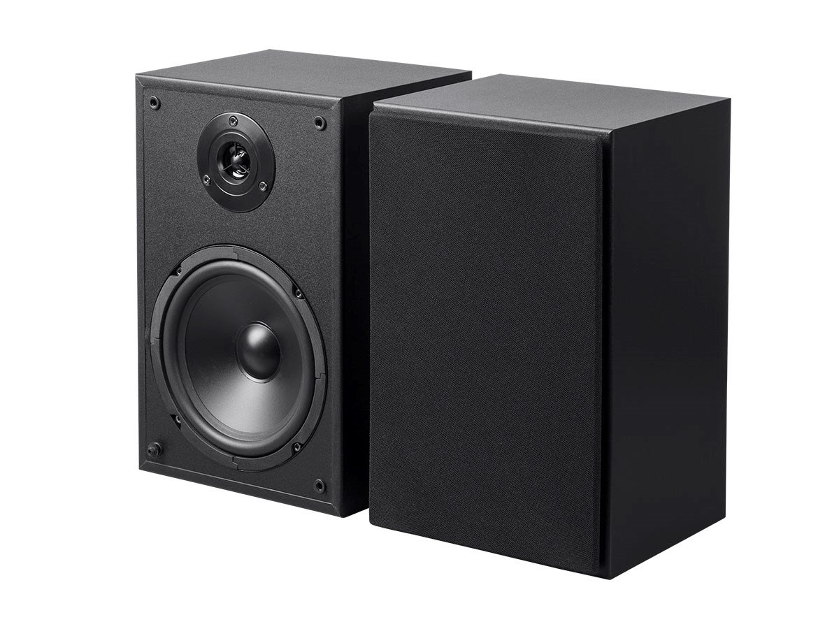 Monoprice6.5in 2-Way Bookshelf Speakers (Pair) Black