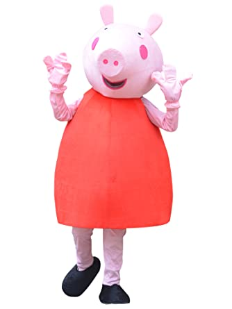 Peppa Pig Adult Costume Peppa Pig Halloween Adult Mascot Costume