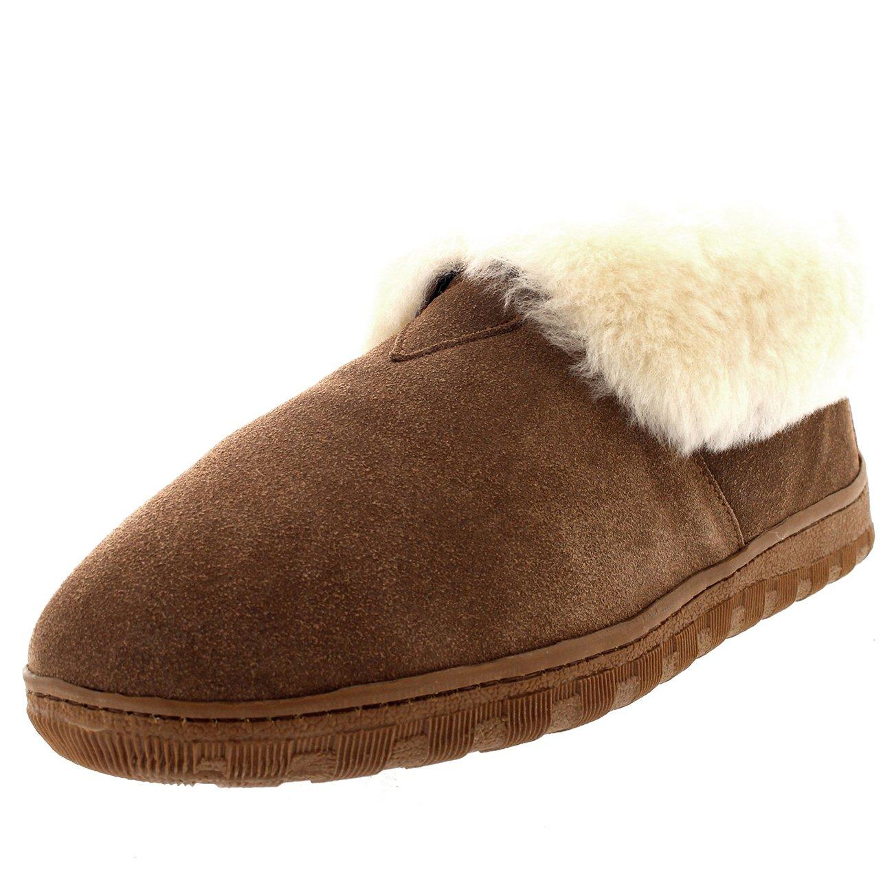 Polar Hombre Forrada de Piel Genuina Piel de Oveja Australiana Manguito de Pieles Botas Zapatillas: Amazon.es: Zapatos y complementos