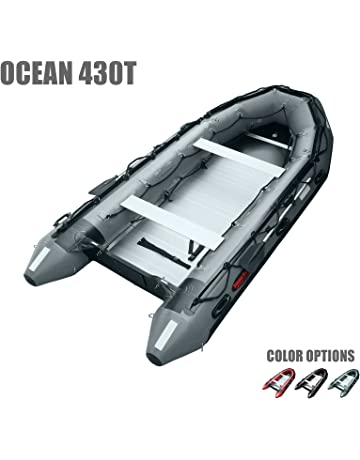SEAMAX Ocean430T Commercial Grade Inflatable Boat, 14ft. x 6.4ft, 5 Pontoon Chambers