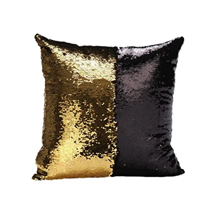 Wonderful Idea Up Reversible Sequins Mermaid Pillow Cases 4040cm With Magic Mermaid  Sequin (Gold And Black