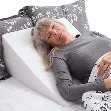 Large Folding Bed Wedge Pillow for Acid Reflux Medical Elevate Support The Neck