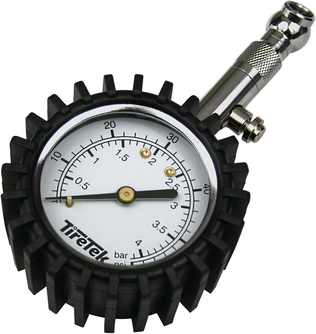Lifetime Reifendruckprüfer analog max.4bar Luftdruckprüfer Messgerät Manometer