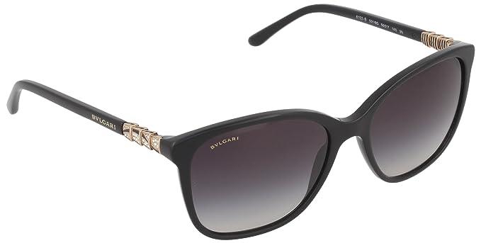 Amazon.com: anteojos de sol Bvlgari bv8152b 5018 G, negro ...