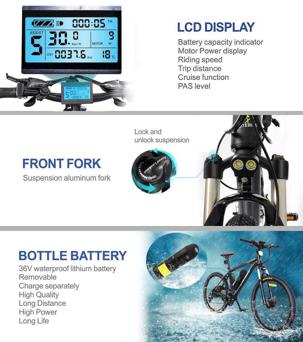 350W Ebike 36V 26 Inch Ebikes for Adults HOTEBIKE E Bikes Outdoor