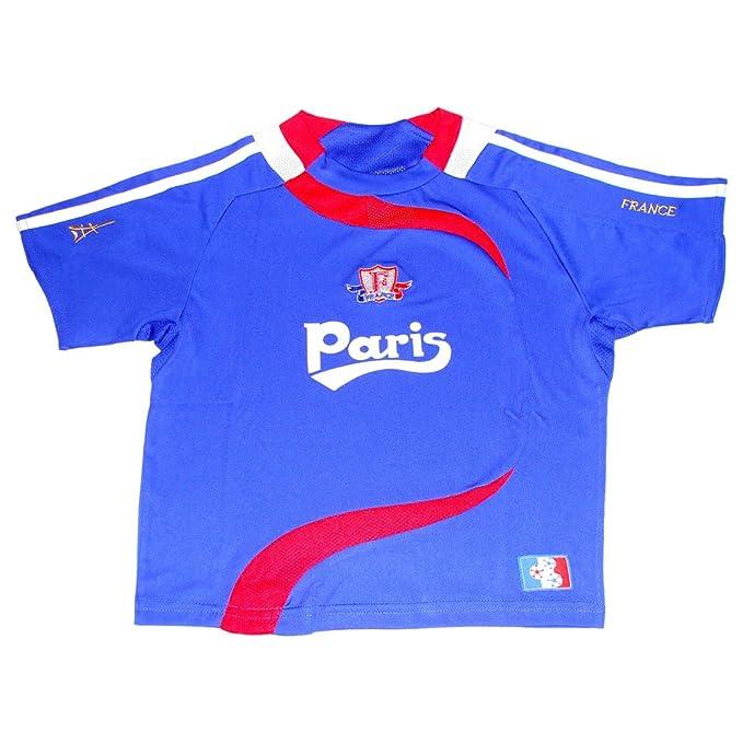 Recuerdos de France – Maillot de fútbol niños Paris Francia – Azul, Deportes (Sports