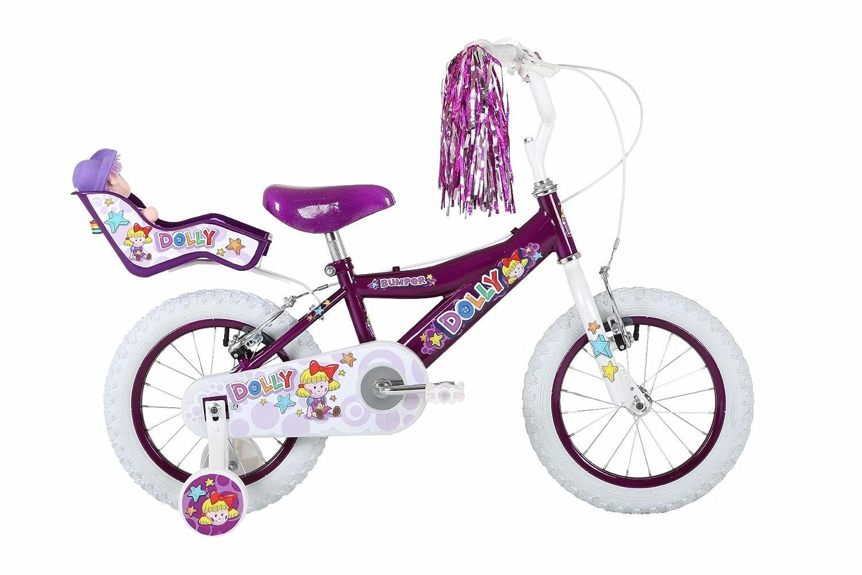 Bumper Dolly 35,6 cm Mädchen Mountain Bike Lila Weiß