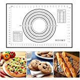 GORCHEN Pastry Baking Mat Dough Rolling Mat Pizza Pie Bread Cookies Bakeware Silicone Sheet Non Stick 24x16 Inch