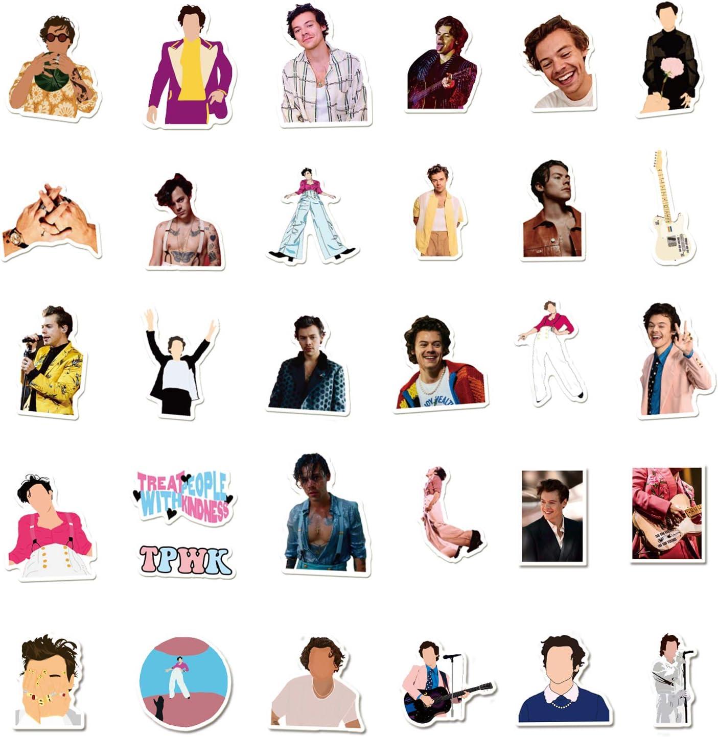 Harry Styles Stickers Merch 100 PCS Vinyl Waterproof Stickers Pack for Teens Laptop Skateboard