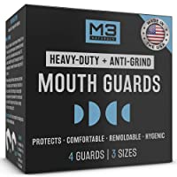 M3 Naturals Heavy Duty Mouth Guards for Teeth Grinding Clenching Bruxism Moldable...