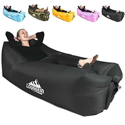 Pleasing Kyrush It Inflatable Lounger Air Couch Chair Sofa Pouch Lazy Hammock Blow Up Bag Lounge Outdoor At The Beach Or Camping Lay Longers Chairs Are Ocoug Best Dining Table And Chair Ideas Images Ocougorg