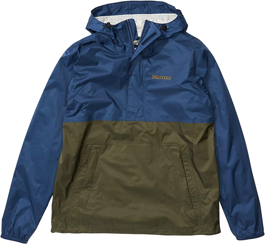 Amazon Com Marmot Precip Eco Anorak Arctic Navy Nori Sm Clothing