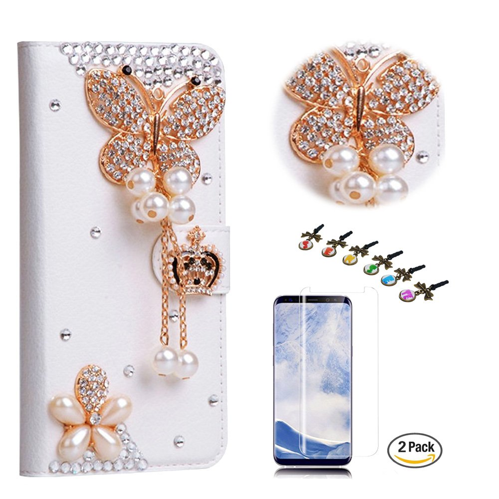 STENES LG Stylo 4 Case - Stylish - 3D Handmade Crystal Butterfly