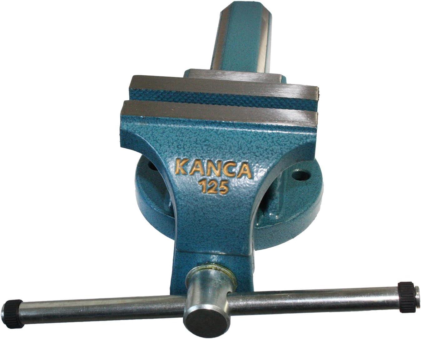 125 mm acero forjado KANCA 60210020125 Tornillo de banco