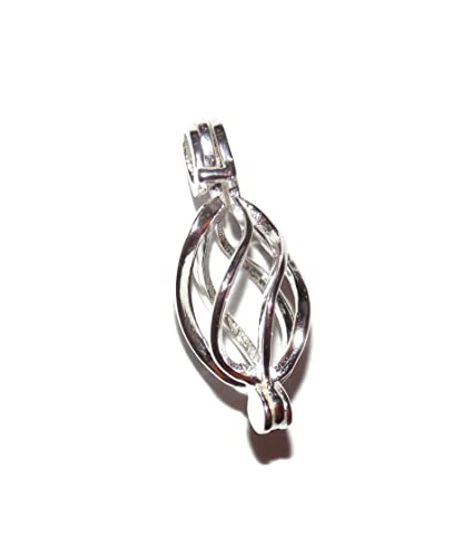 Amazon ornate twist sterling silver pearl cage pendant old ornate twist sterling silver pearl cage pendant old school geekery tm brand jewelry making supplies aloadofball Gallery